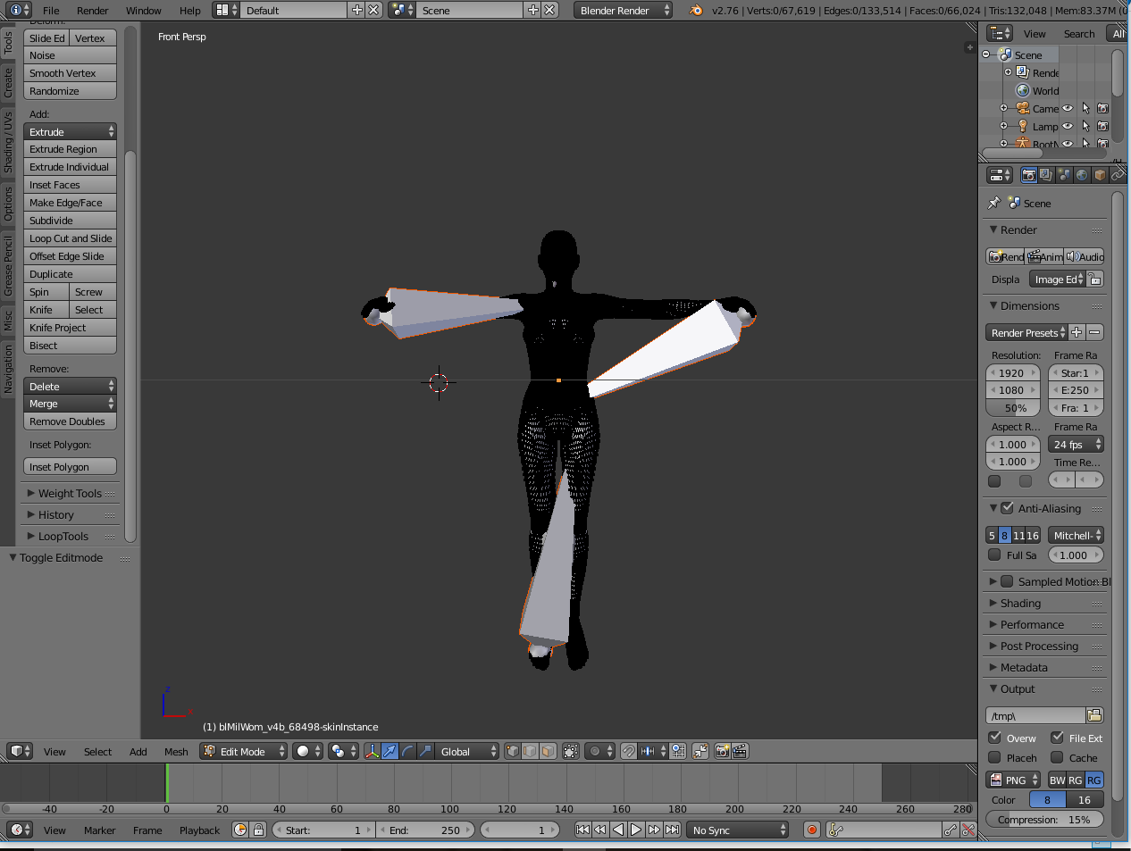 Deleting Armitures (or Bones) on Imported DAZ 3D figure into