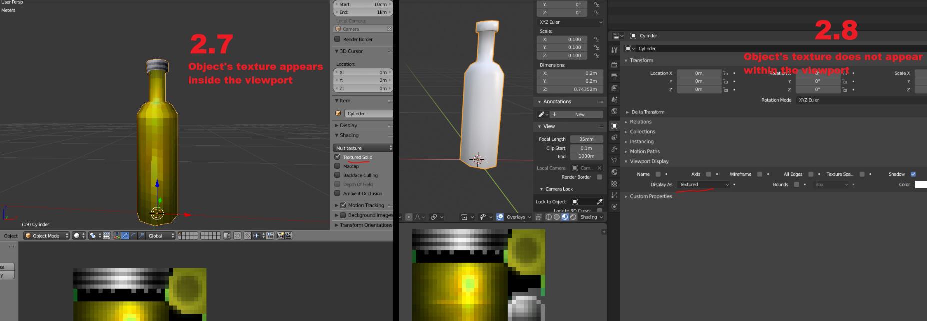 Blender 2.8 テクスチャ