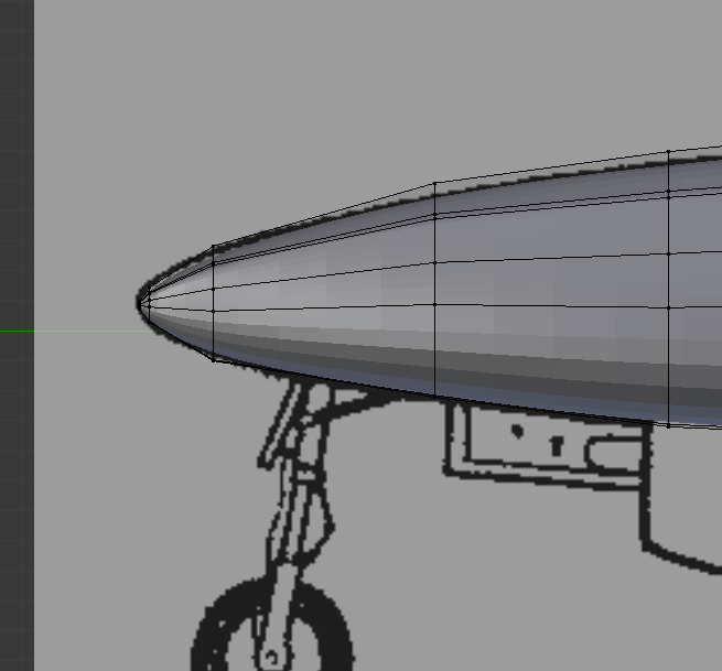 Help making a circular nose for a plane  - Modeling