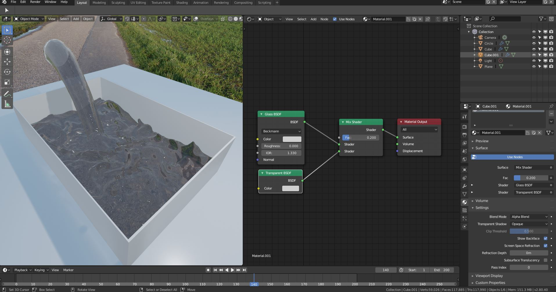 Blender Eevee Water Marterial Problem - Materials and Textures