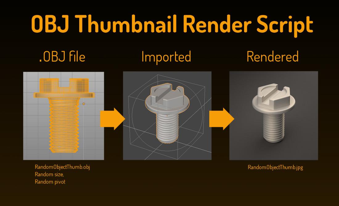 OBJ Thumbnail Render Script - Python Support - Blender Artists Community