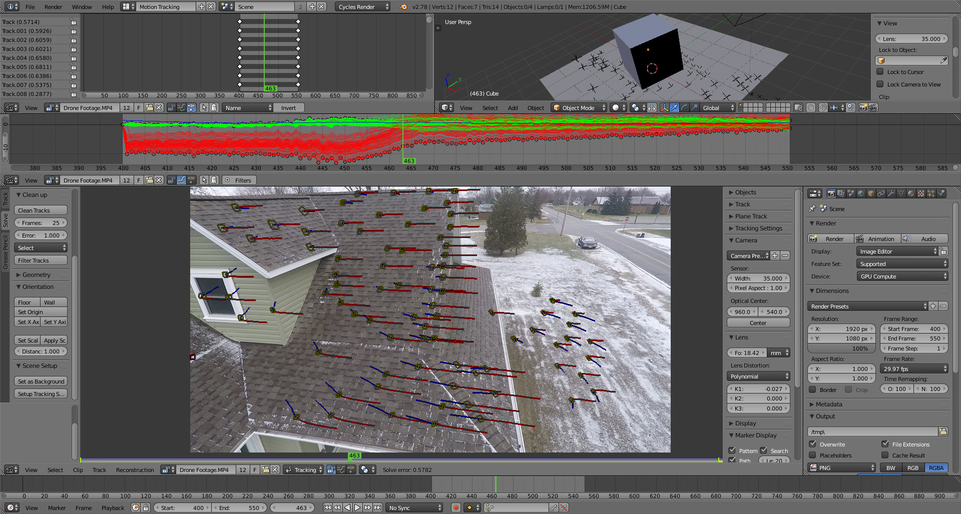 3D Camera Tracker to Compositing - Compositing and Post Processing