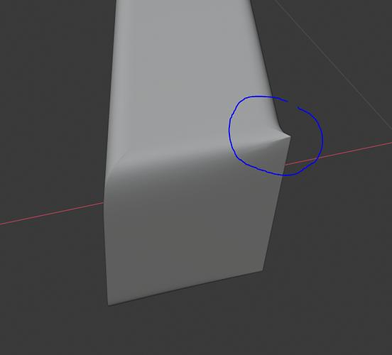Pointy subsurf corner