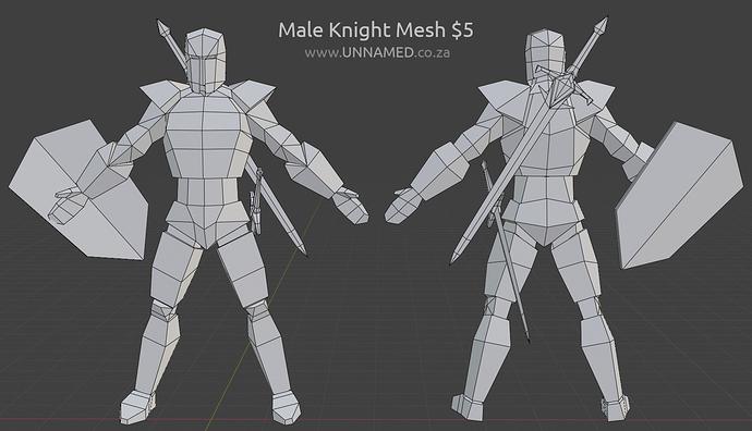 Male knight ad