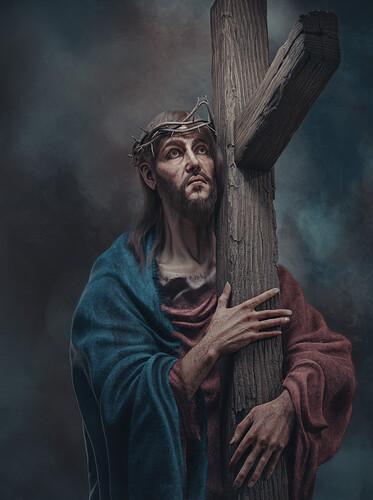 Christ carruing The cross_Filter