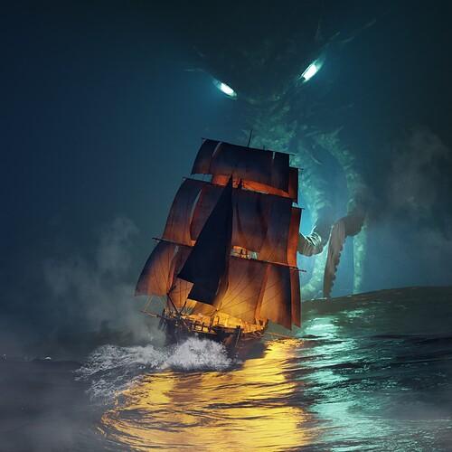 The Kraken vfx