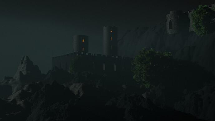 Night fog in the castle
