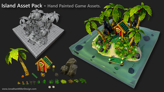 JMD Game Assets Hand Painted Asset Pack View