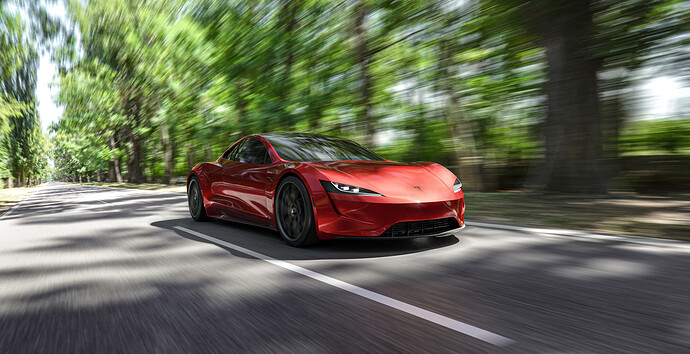 Tesla roadster - Luxcore - PDRA-7