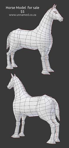 horse mesh