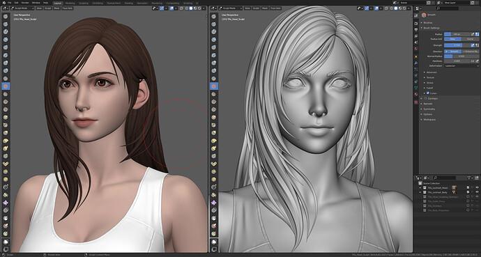Tifa Lockhart Blender Screenshot