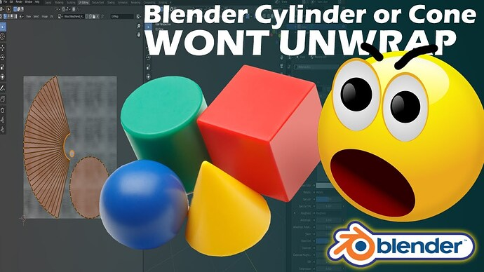 Blender Cylinder or Cone Not Unwrapping Properly