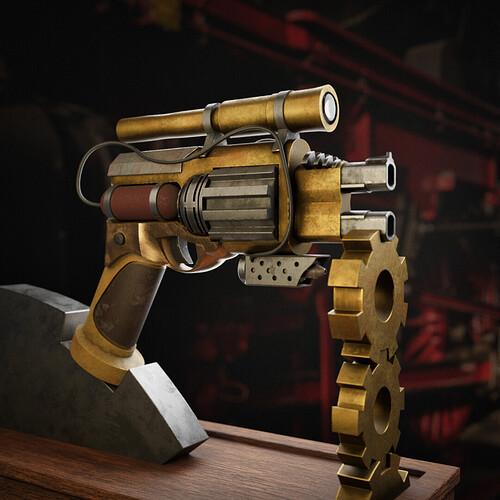 steampunk gun edit