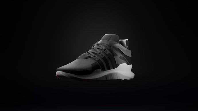 Adidas EQT ADV Black 3 Quarter View