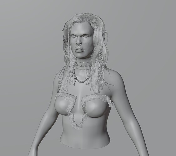 Orc woman object mode