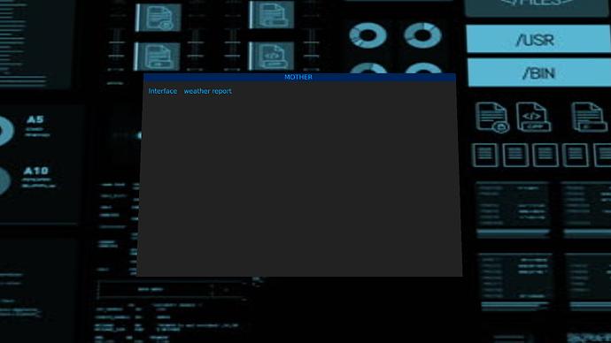 alien station terminal interface