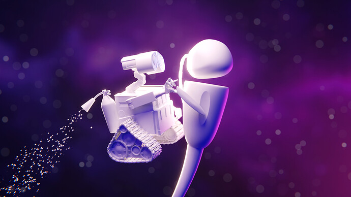 WallE clay render edit