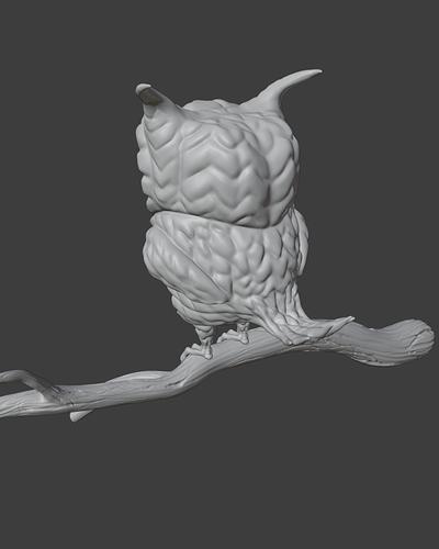 Stylized Owl_Viewport2