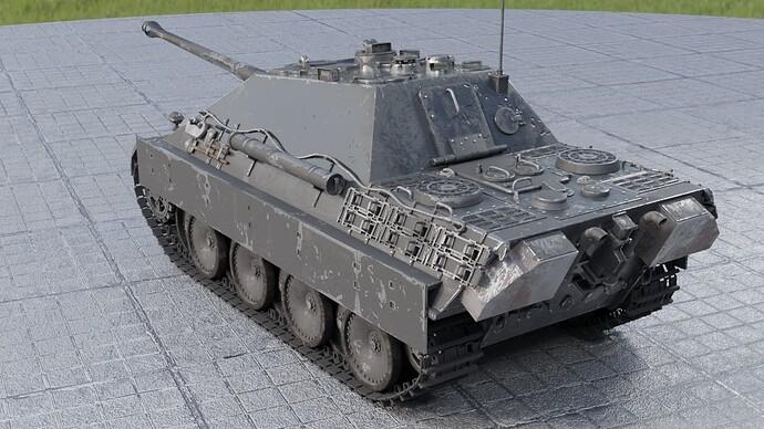 Weathered Jagdpanther (Left Rear)