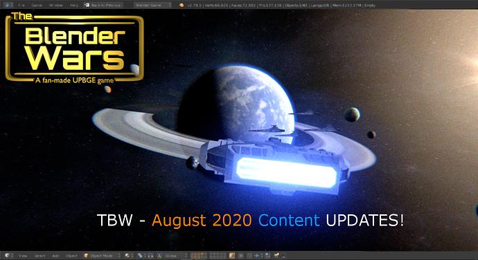 TBW - AUGUST 2020 Content Updates!