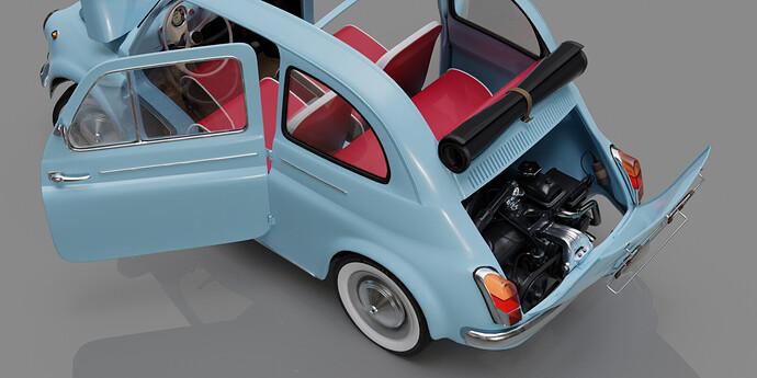 fiat_500D_bleue_engine_detail_hd