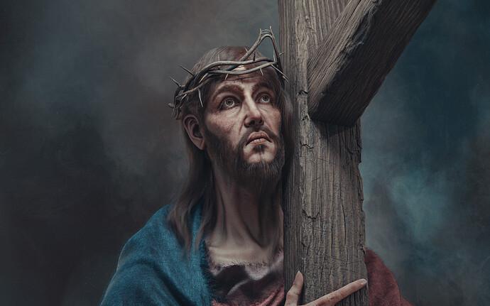 Christ carrying The cross_Wallpaper2