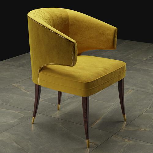 Ibis chair Ready-mustard