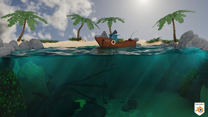Stylized Water Scene_Boot_012