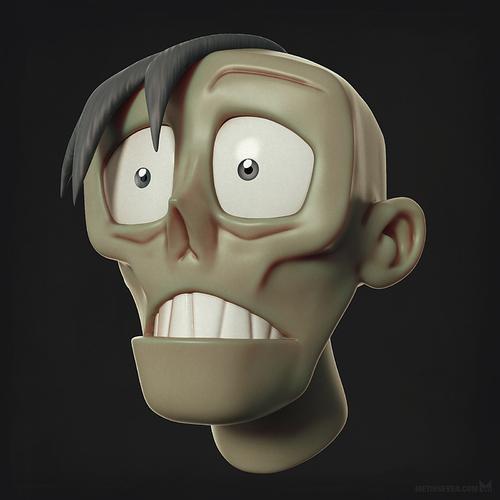 metin-seven_3d-print-modeler-toy-character-designer_zombie-undead-head