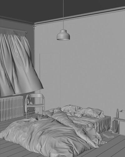 Bedroom in brooklyn - mesh