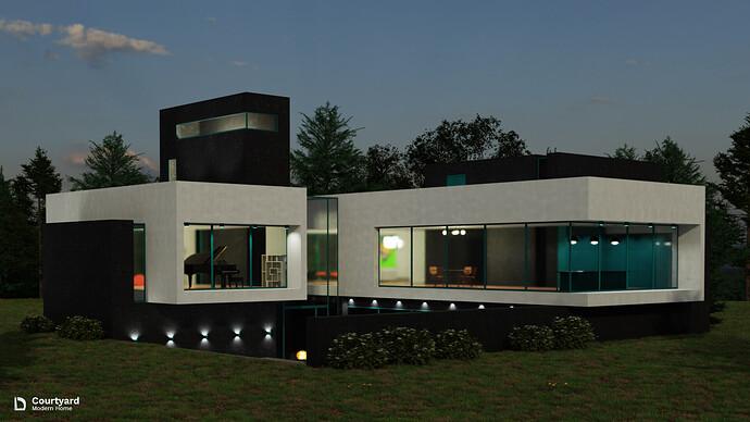Modern Home - Courtyard