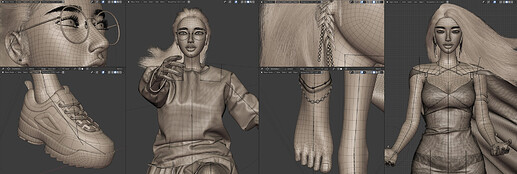 character-wireframes