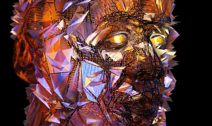 Abstract Head Full