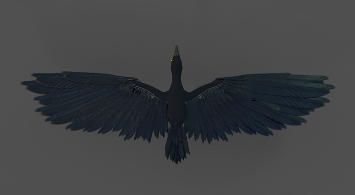 Corvids WIP: Wing feathers generator