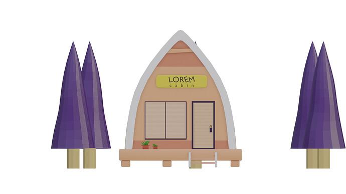 lowpoly cabin4