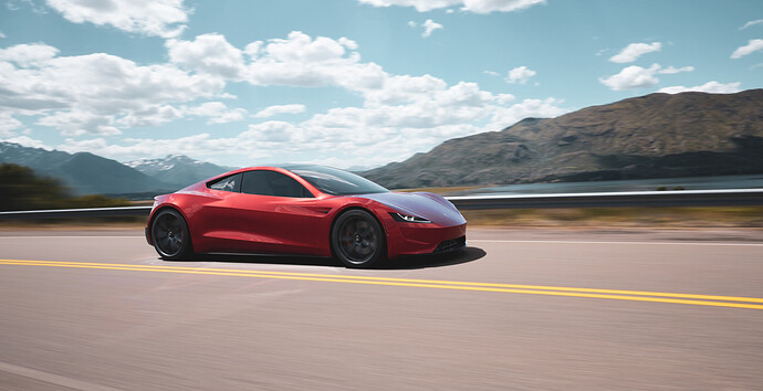 Tesla roadster - Luxcore - PDRA-10