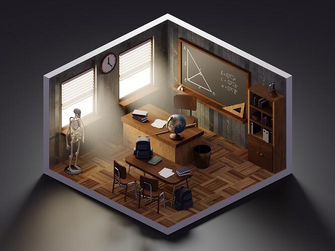 LowPolyClassroom