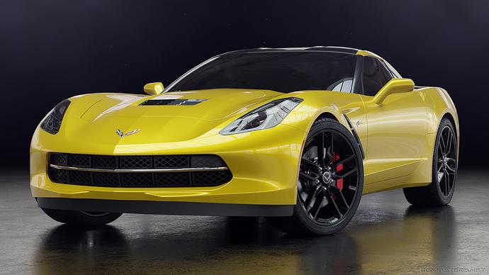 corvette_front_yellow