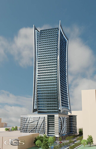 Office Tower @ West Peachtree & 12th Street view 1s