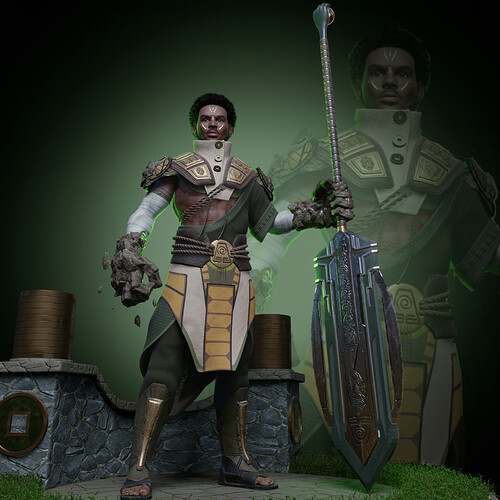 Earthbender Standing Guard