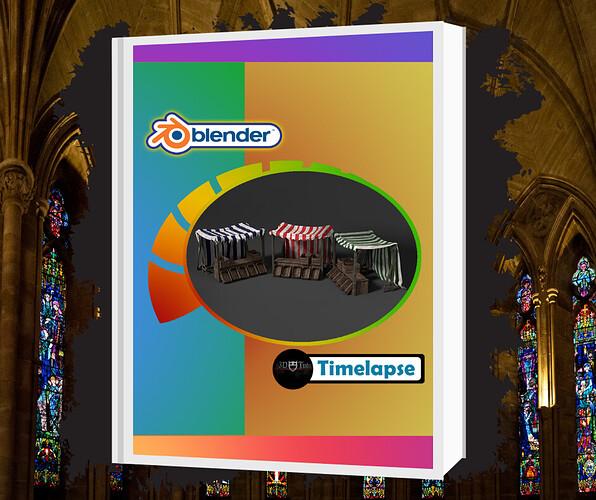 Blender 2.8 Medieval Market Stall Game Asset Timelapse
