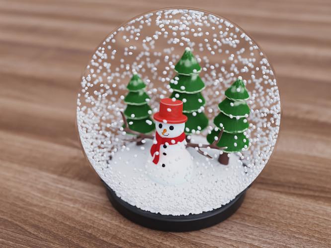 Snowman in glass ornament final