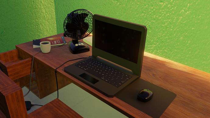 Desk closeup 2