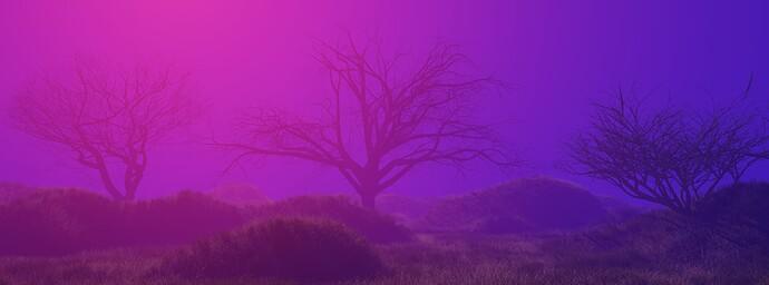 3 Trees_Sketch Render