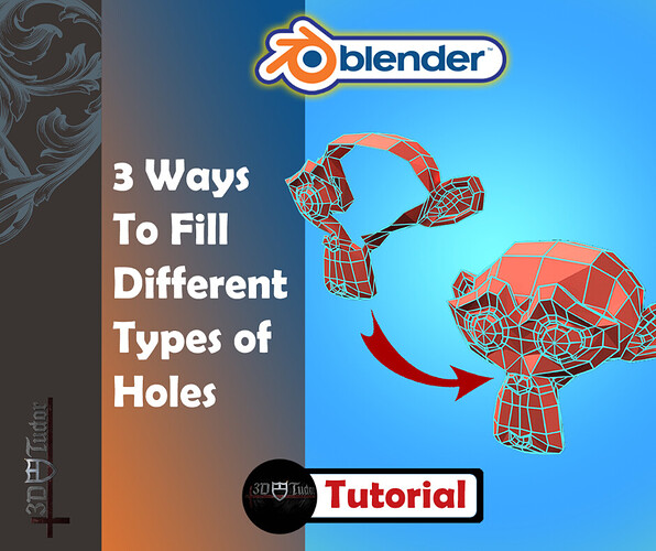 3 of The Best Ways of Filling & Merging Holes in Meshes in Blender 2.8 b