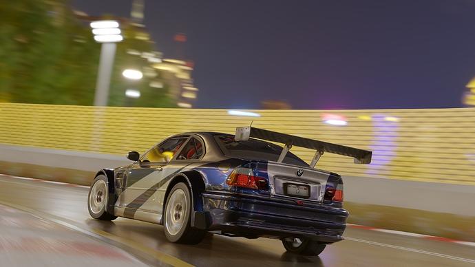 BMW M3 GTR in Track