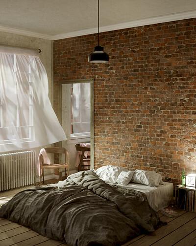 Bedroom in brooklyn - 01c