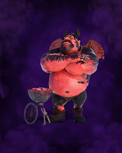 Human-BBQ-purple