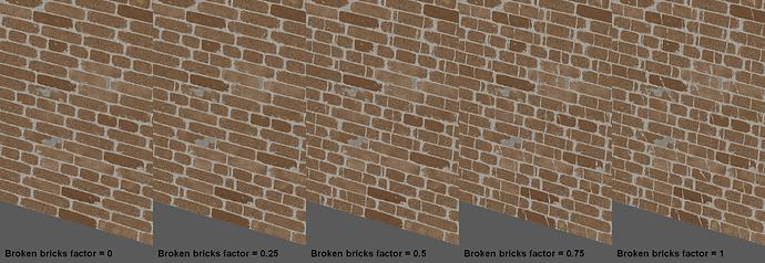 Broken bricks effect result
