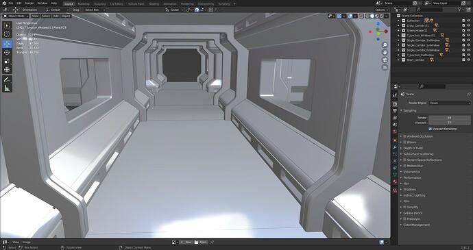 Single Corridor Modual With 2 Windows